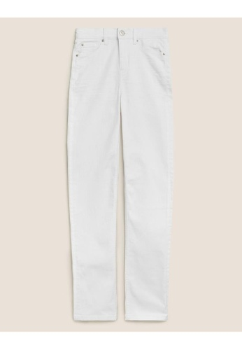 MARKS & SPENCER white M&S Sienna Straight Leg Jeans with Stretch 1BAACAAF41239FGS_1