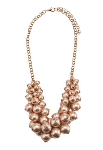 Bevy Pearl witesprit outlet 高雄h Engraved Flower Necklace, 飾品配件, 飾品配件