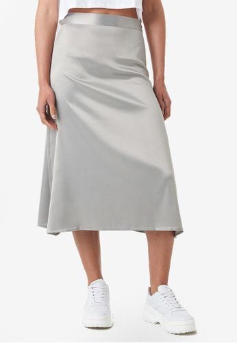 602c6be4e Buy NA-KD Bias Cut Satin Midi Skirt Online on ZALORA Singapore