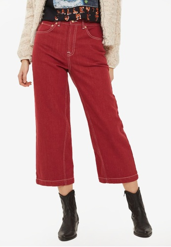 TOPSHOP red CNY Red Awkward Crop Jeans TO412AA0SRQQMY_1