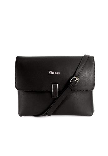 CO BLANC black Co Blanc 22005-0064S Flap Lock Sling Bag B42BBAC3E99A54GS_1