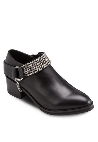 Paige 金zalora 順豐飾粗跟踝靴, 韓系時尚, 梳妝