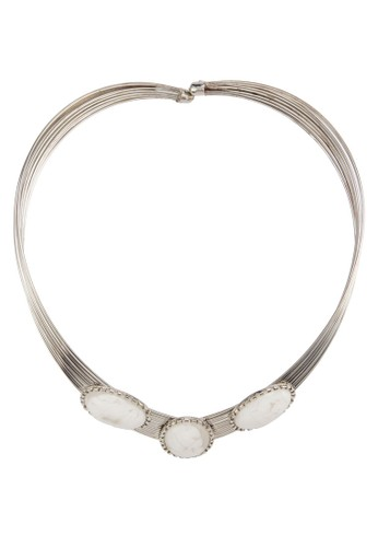 Silver Cleopatra Choker with Oval Stone, 飾品配件,esprit hong kong 分店 項鍊