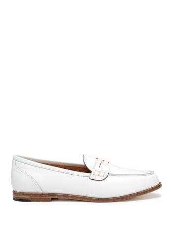 RABEANCO white RABEANCO SERA Box Leather Loafers - White 2D1EFSHA8408F4GS_1