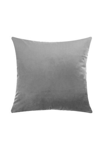 DILAS HOME Basic Velvet Cushion Cover (Grey) F9C53HL447E0D3GS_1