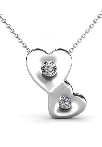 Her Jewellery silver Double Love Set with Premium Grade Crystals from Austria 7CC3FACF712CA8GS_1