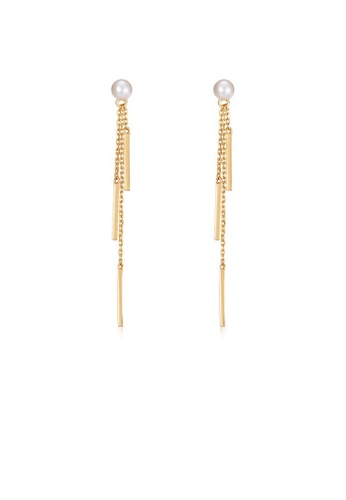 SUNSET gold Premium 925 Sliver Pearl Earring 036ADAC9173D4EGS_1