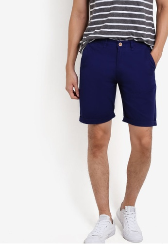 threads by the produce blue Textured Shorts TH122AA37XLIMY_1