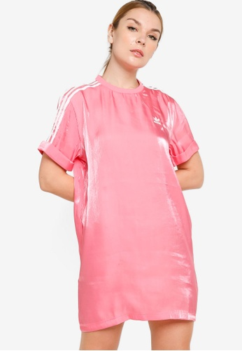 ADIDAS pink logo mini dress 3394BAAA3FFC07GS_1