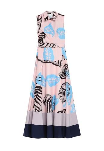Megane pink Best Frenz Nizhoni Floral Print Maxi Dress B7FBEAAF9D5ED1GS_1