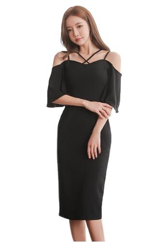 Sunnydaysweety black Summer Bodycon Off Shoulder Dress UA071109-0 BA04BAABF88E74GS_1