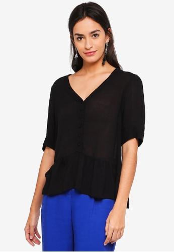 Vero Moda black Ciao Button Up Top 50F91AAA0E78B2GS_1