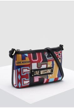 3a93b6c70e Love Moschino Graphic Saffiano Crossbody Bag S$ 239.00. Sizes One Size
