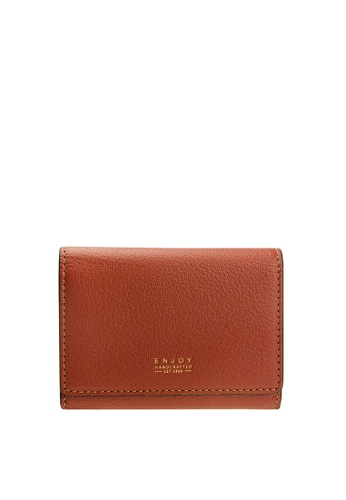 Enjoybag red Smart Core`s Italian Goat Leather Smart Core Card Holder EN763AC01CNUHK_1