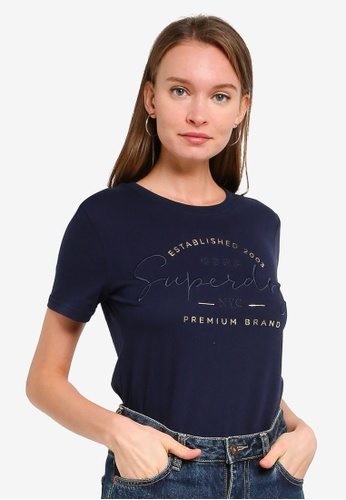 Superdry navy Established Tee 027D3AA9E9C0F9GS_1