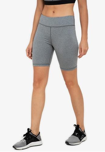ZALORA ACTIVE grey High Waisted 8? Biker Shorts F2727AA3FD81FDGS_1