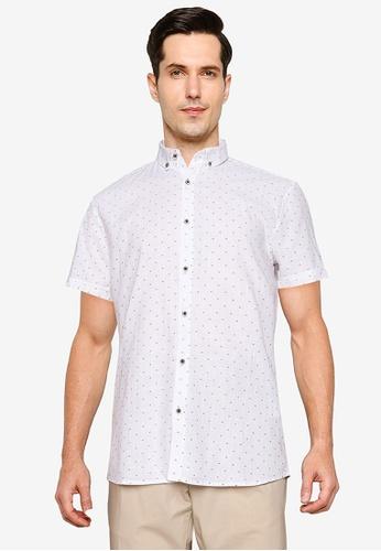 LC Waikiki white Slim Fit Short Sleeves Oxford Shirt 32089AA7092BD1GS_1