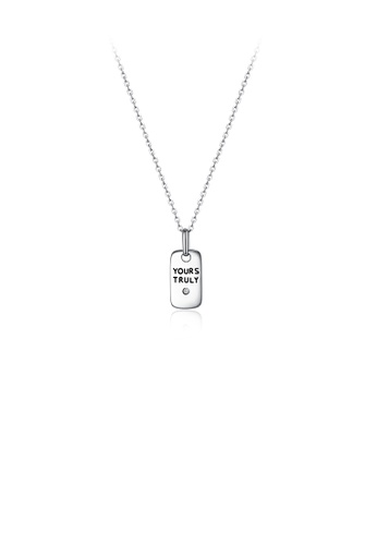 Glamorousky white 925 Sterling Silver Fashion Simple Mini Pendant with Necklace AF998AC11DE5AFGS_1