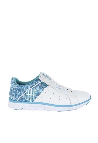 Royal Elastics 白色 and 綠色 Zephyr 輕量休閒鞋 RO796SH099JXTW_1