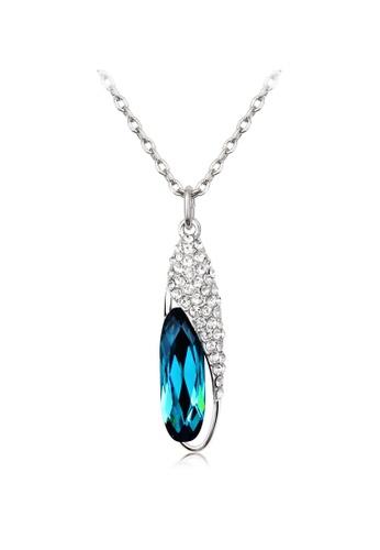OUXI blue OUXI Glass Shoe Necklace (Sapphire) OU821AC21OFYMY_1