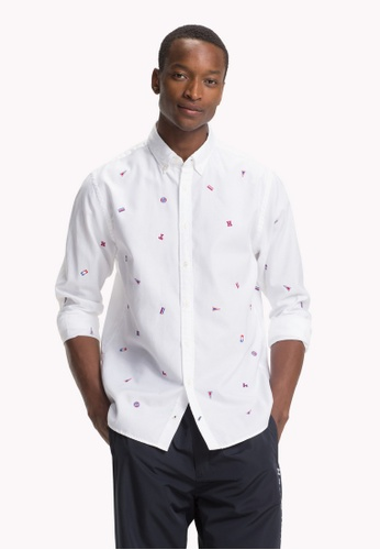 00d03679 Buy Tommy Hilfiger ALLOVER EMBROIDERY SHIRT Online on ZALORA Singapore