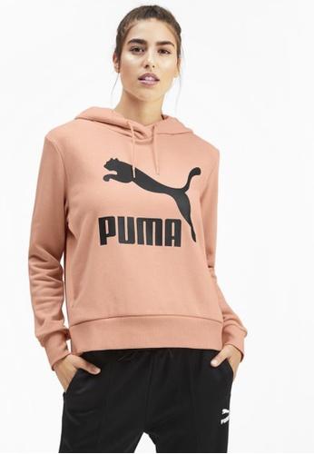 PUMA pink Classics Logo Women's Hoodie 03276AA297D08BGS_1