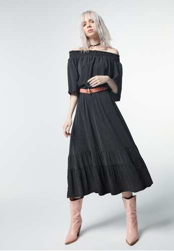 iROO black Maxi Dress D7CA3AA5913A2EGS_1