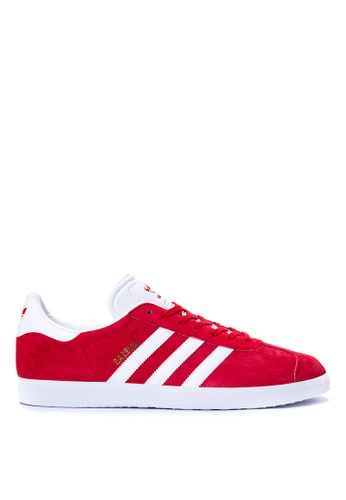 Adidas white and red Gazelle Sneakers AD678SH35HKYPH_1