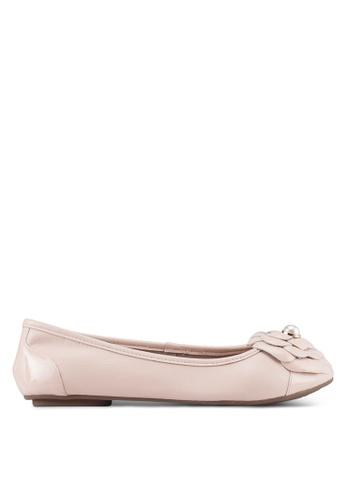 Dune London pink Corsage Ballerina Flats 0A87FSH07307B9GS_1