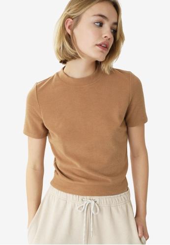 PIMKIE brown Basic T-shirt E04E1AA980E037GS_1