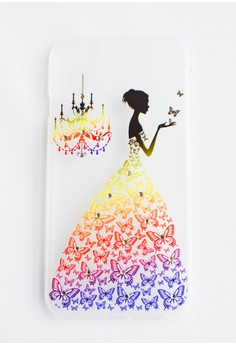 Woman and Chandelier Hard Transparent Case for iPhone 6/6s