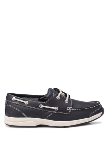 Timberland navy Follybay 2 Eye Boat Shoes TI063SH0SB9AMY_1
