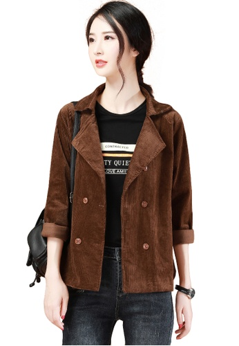 A-IN GIRLS brown Fashion Warm Corduroy Jacket 32047AA2D5D5CFGS_1