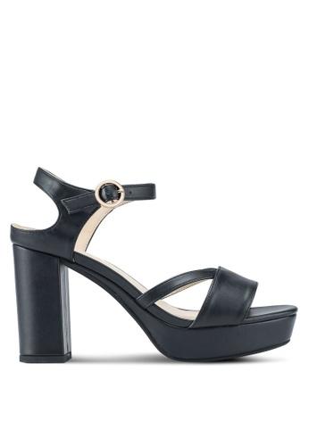 ZALORA black Platformed Sandal Heels With Ankle Strap 77256SH9A2F125GS_1