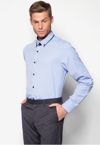 滾邊領長袖襯衫, 服飾, esprit女裝素色襯衫