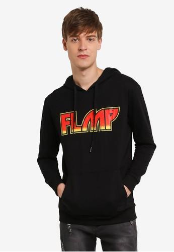 Flesh IMP black Kiss Printed Oversized Hoodie FL064AA0RTOWMY_1