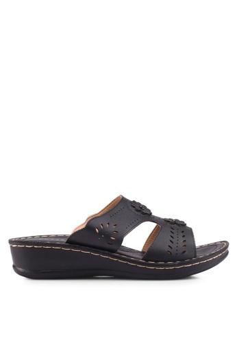 Noveni 黑色 休閒楔型鞋 19F8FSH3DE2E8FGS_1