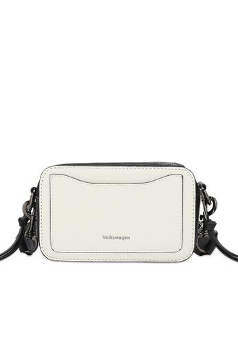 Volkswagen white Faux Leather Crossbody Bag 7E601AC2E9FD67GS_1