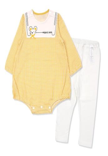 Organic mom yellow Organic Cotton Sally Mouse Bodysuits Set 5B3F8KAD37CF1FGS_1
