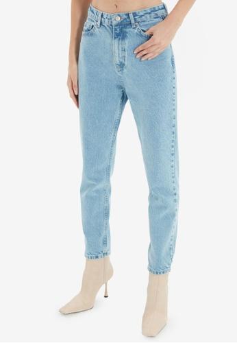 Trendyol blue High Waist Mom Jeans 1E5A6AA06EF6F0GS_1