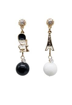 Cute London Paris Style Dangling Earring