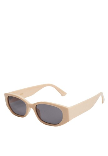 Mango beige Acetate Frame Sunglasses 93C6CGL4AB0267GS_1