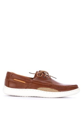 H2Ocean brown Tayton Men's Boat Shoes Lace up B85FFSH5B0AB4BGS_1