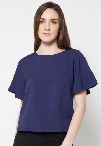 Raspberry blue Khalisa Short Sleeve Blouse RA572AA70EVPID_1