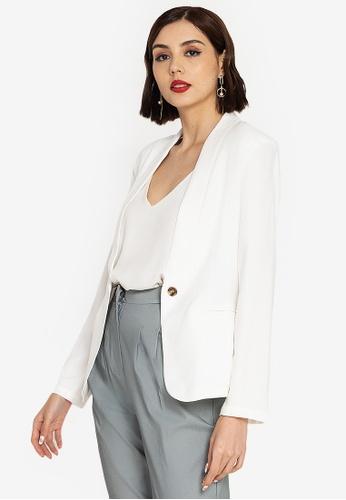 ZALORA WORK white Shawl Collar Blazer 031B2AA29CA29EGS_1