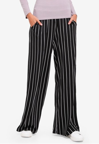 Supre black and multi Wide Leg Jersey Pants 6B270AA5E66A2FGS_1