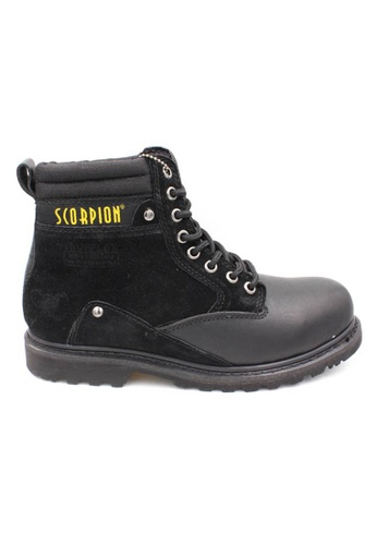midzone black SCORPION Genuine Leather Steel Toe Safety Boots CD6C7SH5A1D09FGS_1