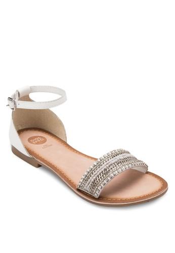 Abani W 印花寬帶包跟涼鞋, 女鞋,esprit專櫃 鞋