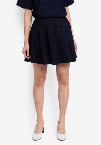 Something Borrowed multi and navy High Waist Skater Skirt EF6E8AA075D68CGS_1