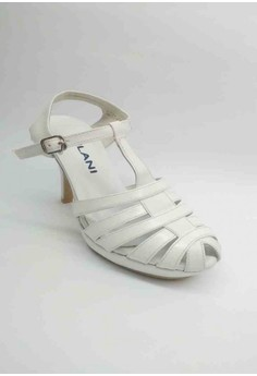 Lea Formal Sandal Strappy front with T-strapwith a Half inch Platform.
